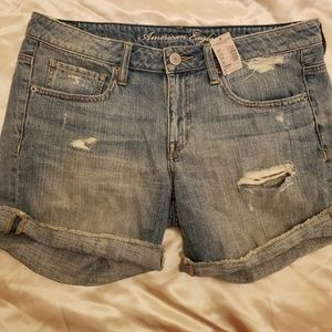NWT AE Distressed Jean Shorts